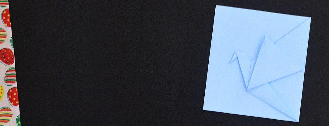 Origami Cartão com Tsuru