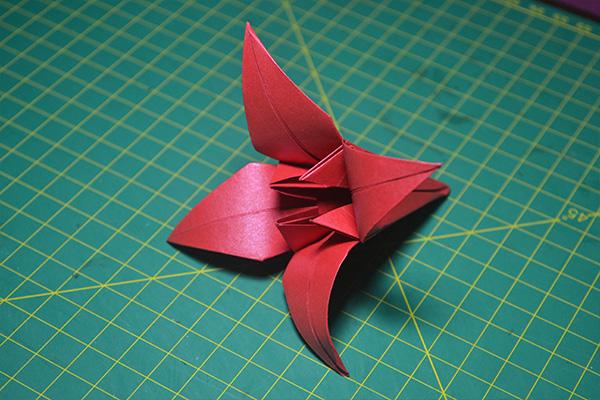 Origami Flor de Íris