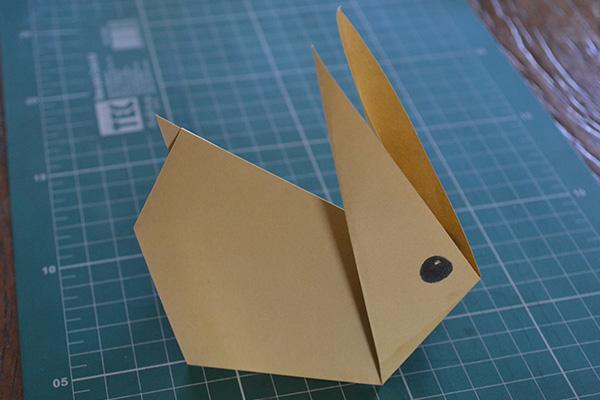 Origami de Coelho para Páscoa